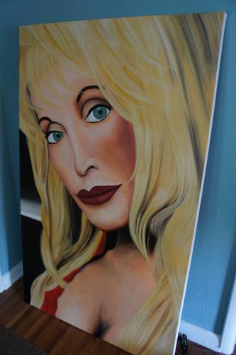 Commission Portrait Painting - Dolly Parton