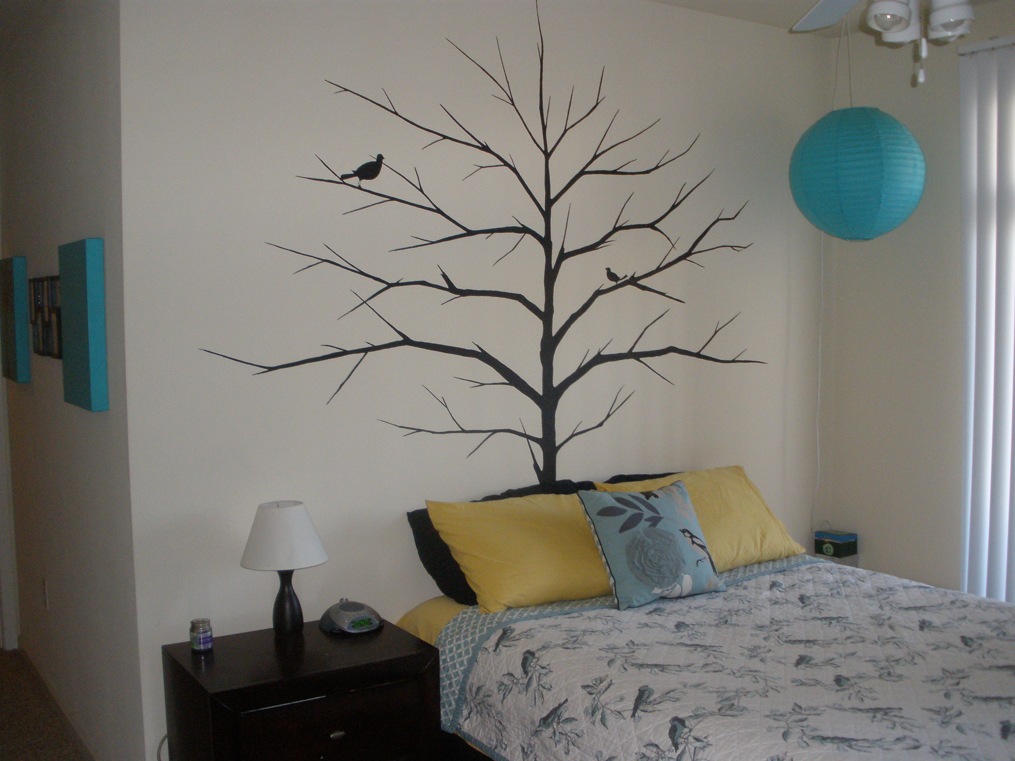 Stamps stencils silhouettes with paint interior painters tree with bird stamp image on wall amipublicfo Images