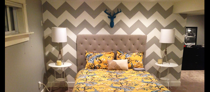 custom paint chevron wall denver