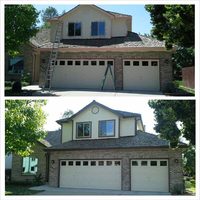 exterior house paint before after