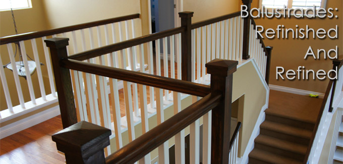 handrail balustrade refinish